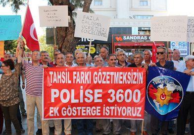 EMEKLİ POLİSLERDEN EYLEM